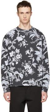 McQ Grey Oversized Floral Sweatshirt