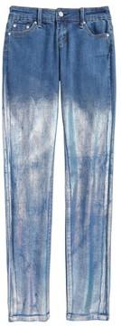 Tractr Girl's Chameleon Foil Skinny Jeans