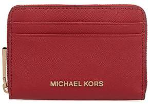 Michael Kors Bright Red Money Pieces Saffiano Leather Card Holder - RED - STYLE