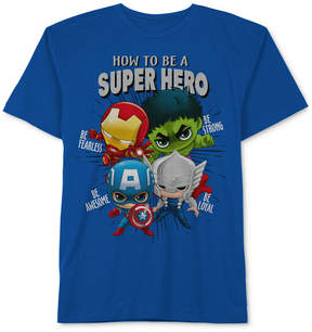 Marvel Little Boys Hero-Print Cotton T-Shirt