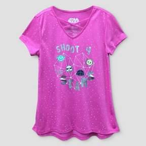 Star Wars Girls' Short Sleeve T-Shirt - Pink