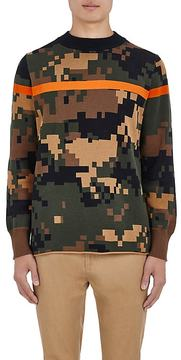 Sacai Men's Digitized-Camouflage Cotton Sweater