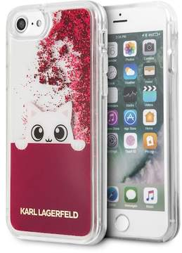 Karl Lagerfeld Transparent Peek A Boo Liquid Glitter iPhone 8 iPhone 7 Phone Case