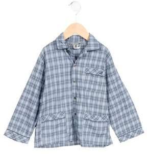 Bonpoint Boys' Plaid Two-Piece Pajama Set