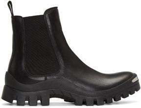 Neil Barrett Black Zip Chelsea Boots