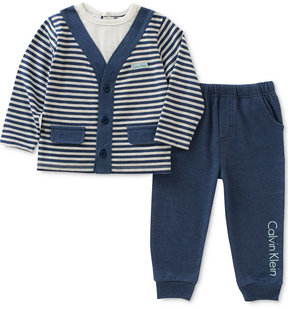 Calvin Klein 2-Pc. Layered-Look Top & Pants Set, Baby Boys (0-24 months)