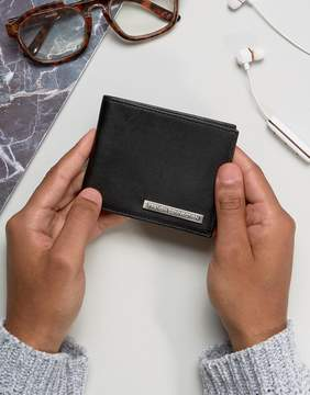 French Connection Leather Wallet With Metal Bar