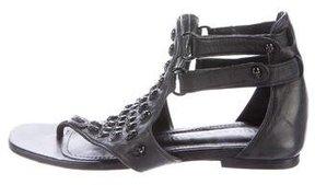 Thomas Wylde Embellished Leather Sandals