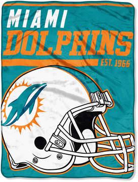 Northwest Company Miami Dolphins Micro Raschel 46x60 40 Yard Dash Blanket