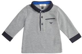 Armani Junior Infant Boy's Long Sleeve Polo