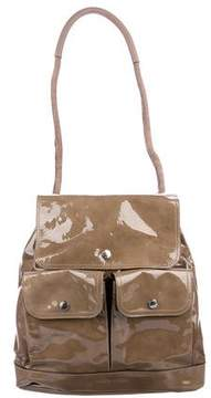 Brunello Cucinelli Patent Leather Convertible Backpack