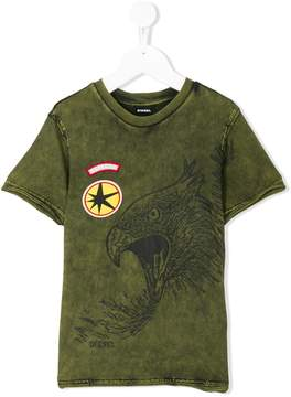 Diesel stone-washed eagle T-shirt
