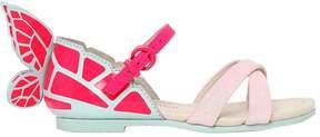 Sophia Webster Chiara Mini Glittered Leather Sandals