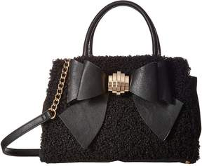 Betsey Johnson Removable Bow Satchel Satchel Handbags