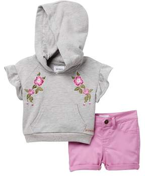 Hudson Heather French Hooded Top & Shorts Set (Baby Girls)