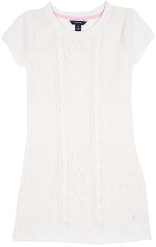 Nautica Cream Ruffle Sweater Dress - Infant, Toddler & Girls
