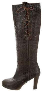 Henry Beguelin Distressed Knee-High Boots