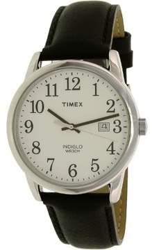 Timex Men's Easy Reader TW2P75600 Black Leather Japanese Quartz Fashion Watch