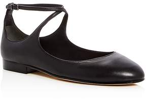 Via Spiga Yovela Leather Crisscross Ankle Strap Flats