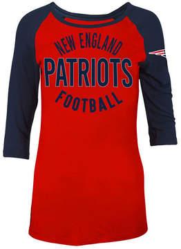 5th & Ocean Women's New England Patriots Rayon Raglan T-Shirt
