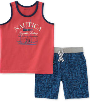 Nautica 2-Pc. Graphic-Print Tank Top & Shorts Set, Baby Boys