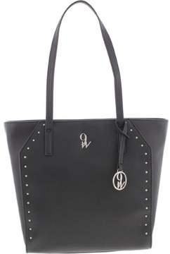 Nine West Womens Show Me Studs Faux Leather Studded Tote Handbag