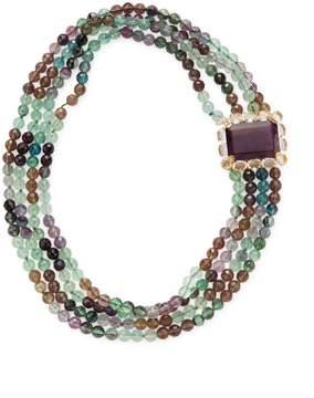 Bounkit Women's Fluorite & Quartz Layer Necklace