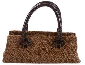 VBH Crocodile-Trimmed Ponyhair Bag