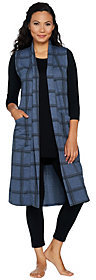 Cuddl Duds As Is Comfortwear French Terry Wrap Vest