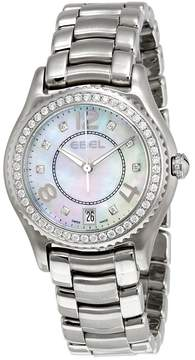 Ebel X-1 Silver Diamond Dial Stainless Steel Ladies Watch