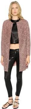Drome Leopard Printed Suede Coat