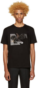 Neil Barrett Black Horse Eagle Hybrid T-Shirt