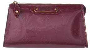Louis Vuitton Purple Monogram Vernis Leather Trousse Cosmetic Pouch.