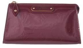 Louis Vuitton Purple Monogram Vernis Leather Trousse Cosmetic Pouch.