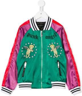 John Richmond Kids embroidered bomber jacket