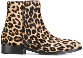 Paul Smith leopard print ankle boots