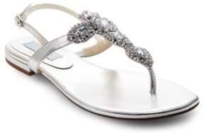 Betsey Johnson Gem Embellished Thong Sandals