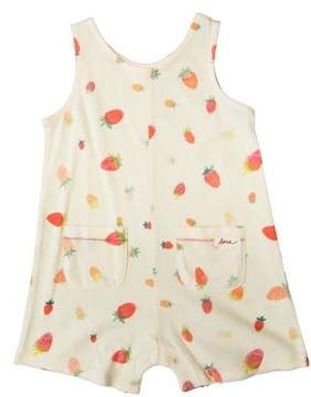 ED Ellen Degeneres Baby Girl's Strawberry Cotton Romper