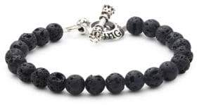 King Baby Studio Beaded Sterling Silver Toggle Bracelet