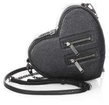 Rebecca Minkoff Jamie Heart Leather Crossbody Bag - BLACK - STYLE