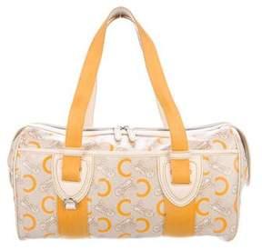 Celine Leather-Trimmed Logo Shoulder Bag