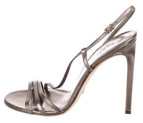 Gucci Leather Slingback Sandals