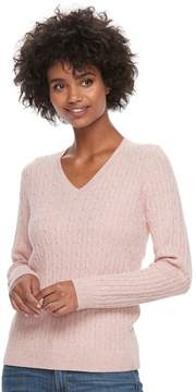 Croft & Barrow Women's Cable-Knit Sweater