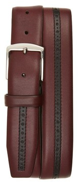 Canali Men's Perforated Leather Belt