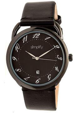 Simplify The 4900 Unisex Black Strap Watch-Sim4906