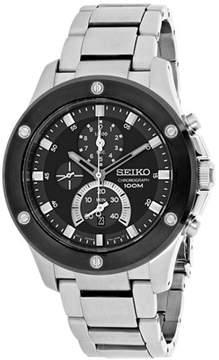 Seiko Men's Chronograph Watch Watch Quartz Hardlex Crystal SPC097