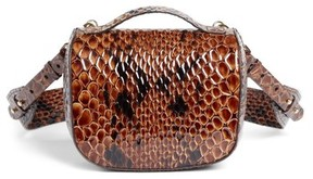 Simone Rocha Small Snake Embossed Leather Box Bag - Brown