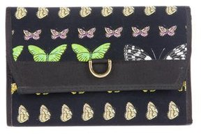 Versace Butterfly Printed Wallet