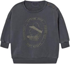 Bobo Choses Grey Captain Ahab Print Sweatshirt