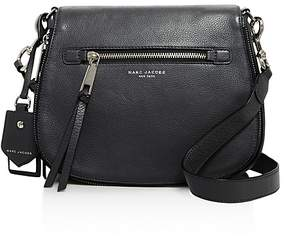 Marc Jacobs Recruit Nomad Leather Saddle Bag - BLACK/GOLD - STYLE